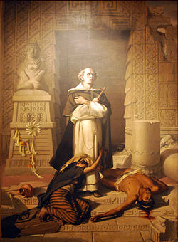 Bartolomé de las Casas depicted as Savior of the Indians in a later painting by Felix Parra