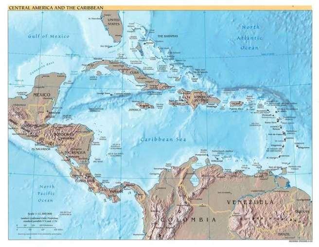 Mittelamerika_Karte