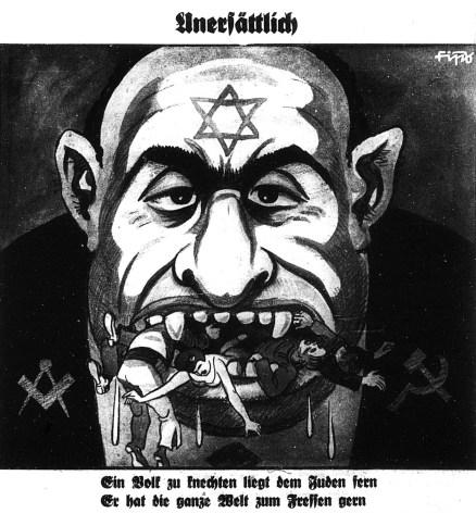 NS_Propaganda_Jude_Unersättlich