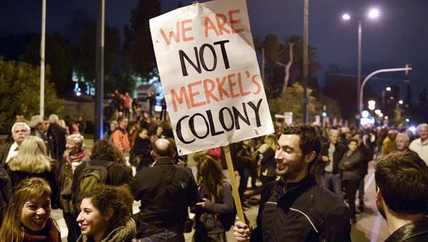 Politik_Merkel_Kolonie_Griechenland